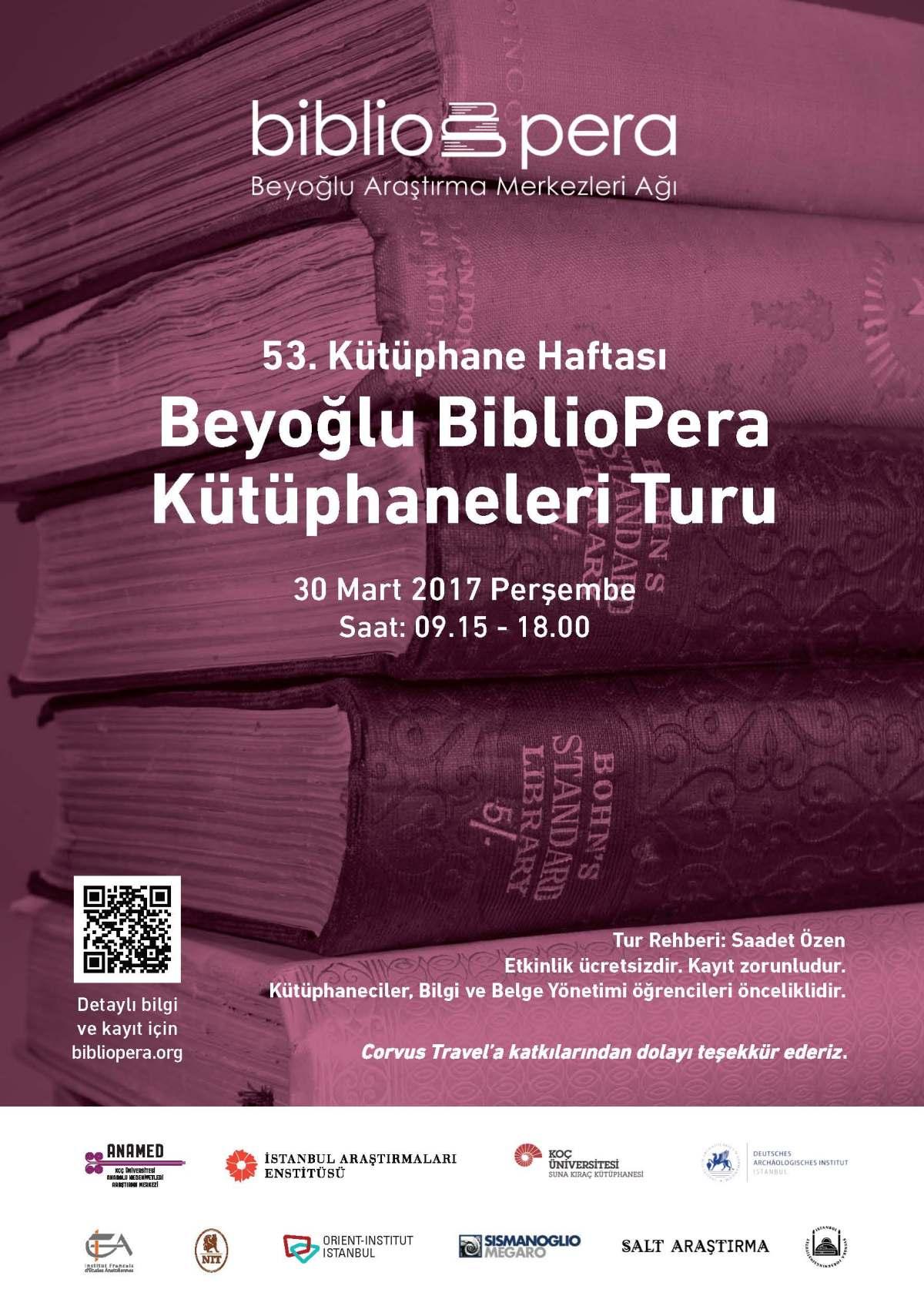 Beyoğlu BiblioPera KütüphaneleriTuru
